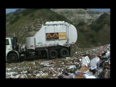 Garbage Dumps Garbage Trucks Dump Their Load