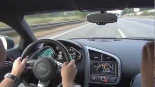 edo competition Audi R8 V10 - 0-335km/h on German Autobahn - 1080p HD