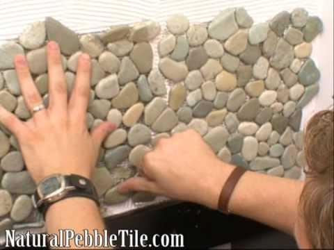 Natural Pebble Tile on DIY Network's