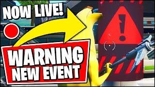 FORTNITE EVENT WARNINGS *RIGHT NOW* - WARNINGS EVERYWHERE FOR THE CATTUS MONSTER VS DOGGUS ROBOT!!