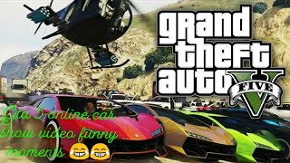 Grand Theft Auto V car show nd funny moments