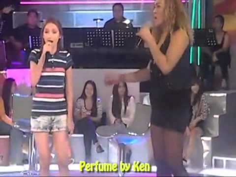 Filipina Girl Sing Love On Top video