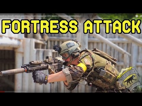 DesertFox Airsoft: Attack and Defend Fort Courage at CPX Sports (Gameplay commentary)