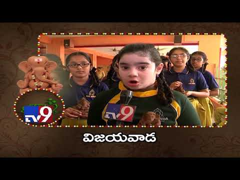 Eco-Friendly Clay Ganesh Idols || Vijayawada - TV9's Go Green Ganesha Campaign