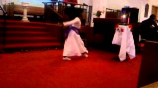A. Hudson (AMES Memorial UMC) praise dancing to 'Lay It Down'