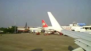 Airport Goa GOI India Runway Taxi Kingfisher Airlines Jet Airways Take off