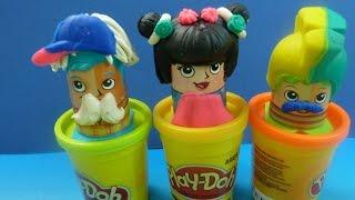 Play-Doh Cắt Tóc Tạo Kiểu Tóc (phần 2) Cắt Tóc Cho Thầy Giáo (Bí Đỏ) Play-doh hair Salon Toys