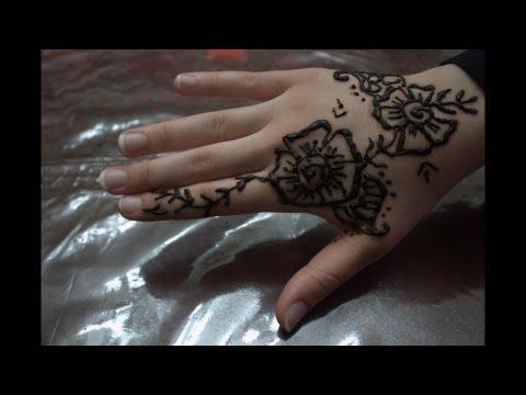 How To Draw Henna Design _ تعلمي أجمل طريقة لنقش الحناء