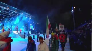 ملی پوشان اسکی ایران در مسابقه قهرمانی جهانی ۲۰۱۵ فالون سوئد - مراسم رژه افتتاحیه