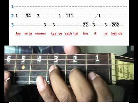 Chaaha hai tujhko chaahoonga har dam (Mann) on guitar tabs Part...