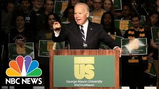 Joe Biden To College Men: 'A Woman Who's Dead Drunk Cannot Consent. You Are Raping Her'   NBC News