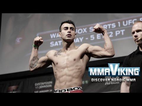 UFC Sweden 4 Weigh Ins Makwan Amirkhani vs  Andy Ogle