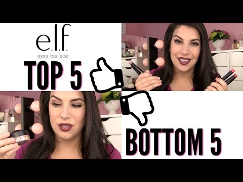 Top 5 Bottom 5: ELF MAKEUP (Bonus Top 5 Brushes)