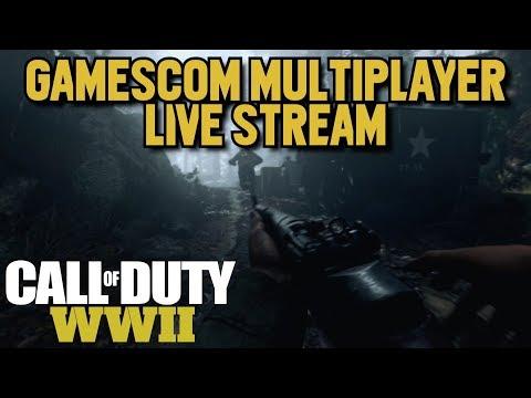 Call of Duty: World War 2 Gamescom Multiplayer Beta Live Re-Stream!