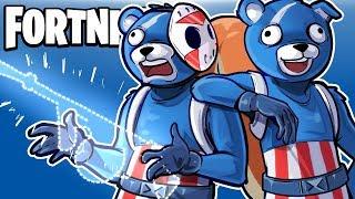 FORTNITE BR - GANGSTA TEDDY SEARCHES FOR NEW DRUM GUN! (Full Duo Match) Drum Gun Only Challenge!