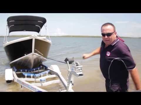 How to Launch a Boat yourself   Launch and Retrieve   Putting your boat onto a trailer   Boat Launch