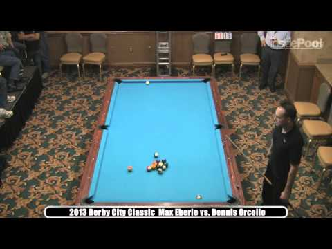 2013 Derby City Classic Straight Pool Finals  Max Eberle vs Dennis Orcollo