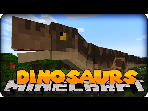 Minecraft Mods - DANGEROUS DINOSAURS ! ( Dinosaur Mod Showcase)