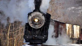Steam Freight Train Western Maryland 734