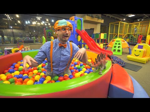 Blippi Learns at the Indoor Playground | Educational Videos for Toddlers