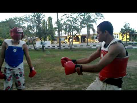 boxing in Malaysian Maritime Academy (Philippines vs India)