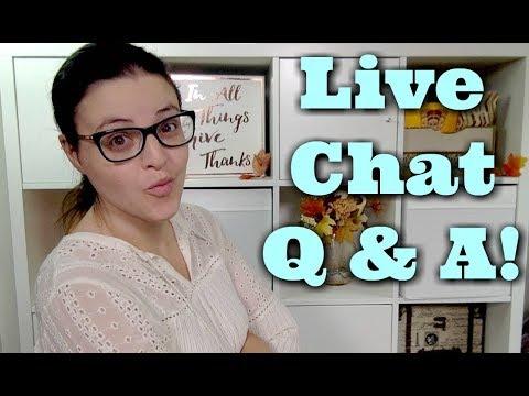 LIVE CHAT - Community Q & A   Jen Luvs Reviews