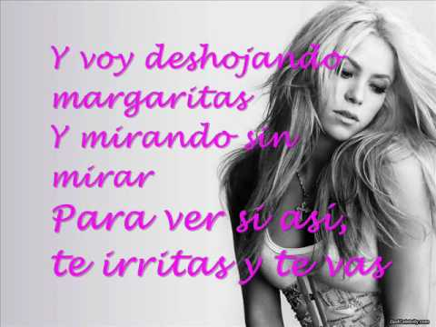 Shakira - No  (lyrics on screen)