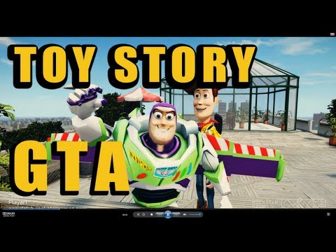 Toy Story GTA : Woody & Buzz Lightyear cause chaos in Liberty City
