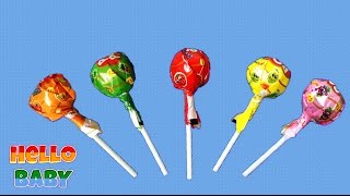 Sweet Candy and friends Lollipops Finger family Play Doh Parody Song