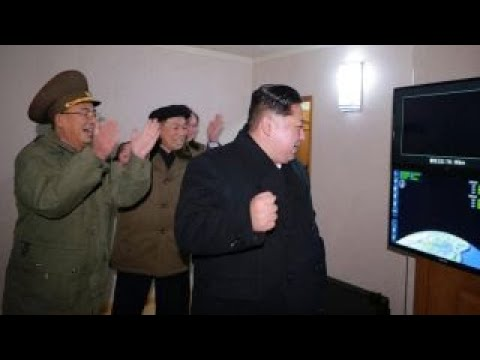 North Korea celebrates after missile launch