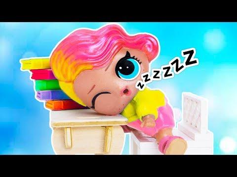 УСНУЛА на уроке!!! Мультик #ЛОЛ СЮРПРИЗ Школа Куклы Игрушки Для девочек
