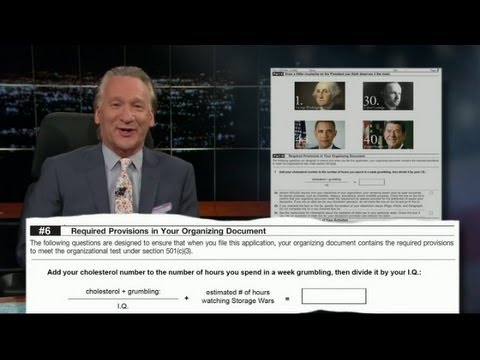 Bill Maher - IRS Forms for Tea Party Members