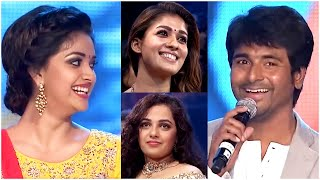 Keerthy Suresh Feels Shy with Sivakarthikeyan Funny Satires. Lovely Onscreen Couple. Comedy At SIIMA