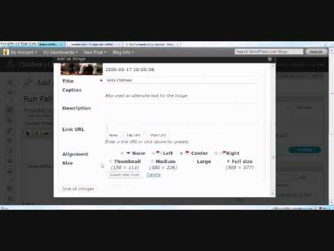 How to create a Wordpress Blog Post