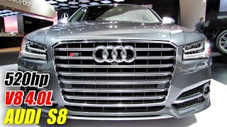 Audi S8 - 2014  Exterior and Interior Walkaround - Detroit Auto Show