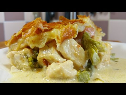 Chicken And Asparagus Pie.  TheScottReaProject