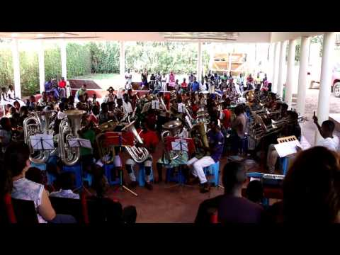 Mbale School brass band - All about that bass (no treble)