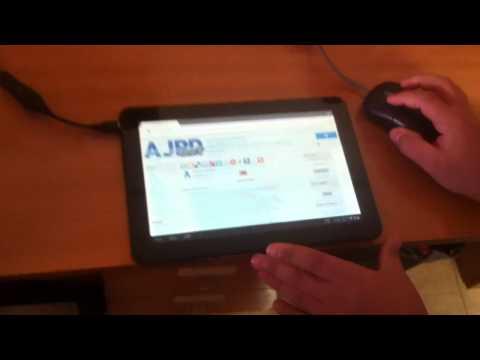 Conectar ratón a tablet Android BQ por USB con cable OTG