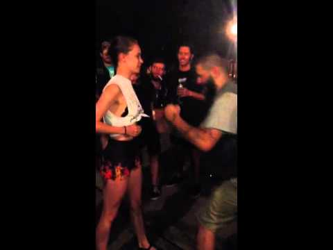 Tommy punching a girl