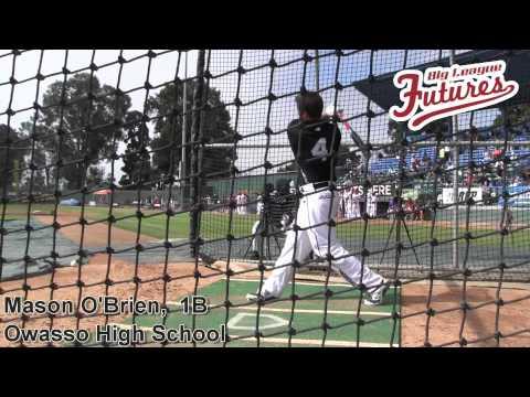 Mason O'Brien, 1B, Owasso High School, Batting Practice at the @acbaseballgames
