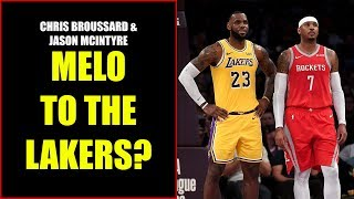 Chris Broussard & Jason McIntyre: Carmelo Anthony to the Lakers?