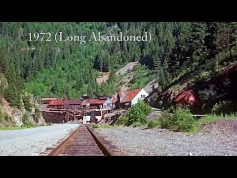 PART 2 of the 'Wallace to Burke' Canyon Creek Road Tour. 7 mile trip showing some of the many old Historic Silver/Lead Mines, Mills, and Historic Towns. Just...