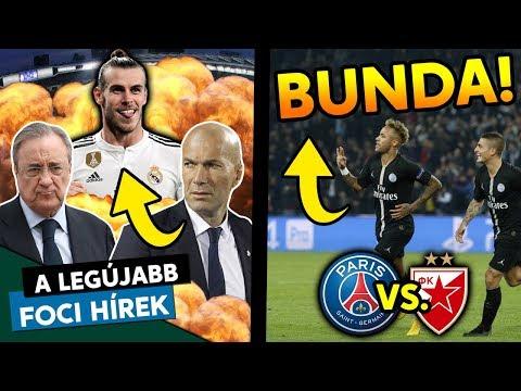 Zidane Bale Miatt Távozott A Real-tól? Bunda Volt A PSG-Crvena Zvezda BL-meccs? | Foci Hírek