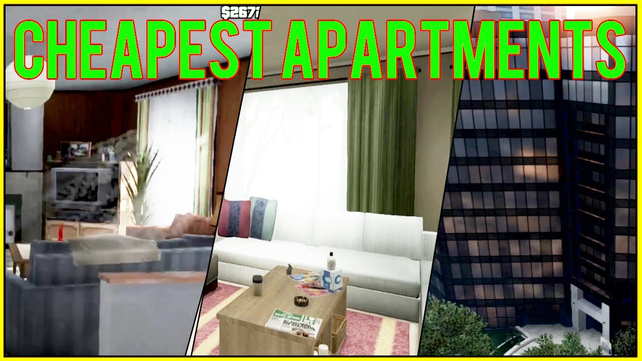 Gta 5 online cheapest apartments low end vs middle end for Designer apartment gta 5