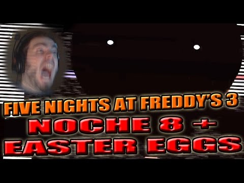 NUEVO TERROR NOCHE 8 FIVE NIGHTS AT FREDDY'S 3 | CODIGOS SECRETOS EASTER EGG FanMade | ZellenDust