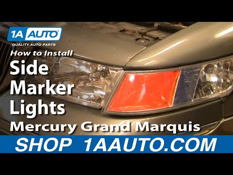 How To Install Replace Side Marker Lights Mercury Grand Marquis 98-02 1AAuto.com