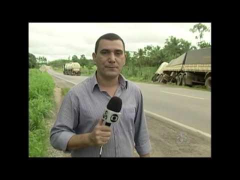 Após sair da pista, caminhoneiro é preso em flagrante por dirigir embriagado em Ji Paraná