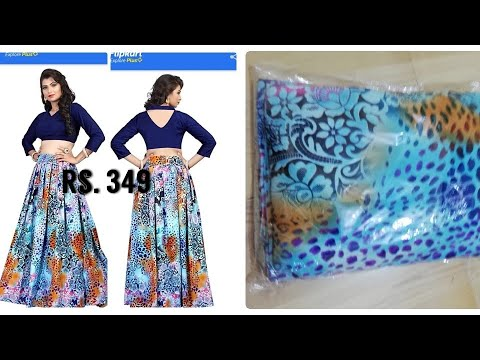 Flipkart lehenga unboxing|flipkart lehenga review|affordable lehenga|lehenga for 349|online shopping