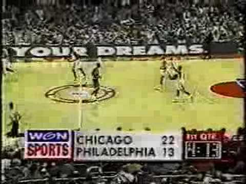 Michael Jordan 1996: 48pts Vs. 76ers, 