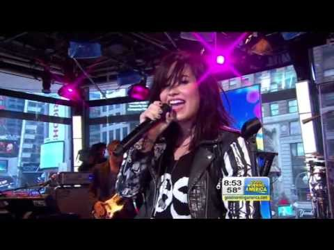 Demi Lovato Give Your Heart A Break Live!!   Gma Abc Ch 7 video